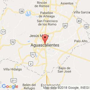 Localización de Aguascalientes en Aguascalientes