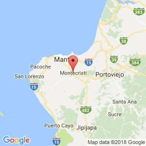 Localización de Montecristi en Manabí
