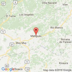 Localización de Matiguás en Matagalpa