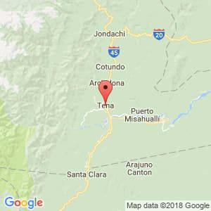 Localización de Tena en Napo