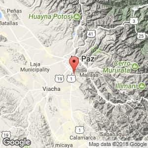 Localización de Achocalla en La Paz