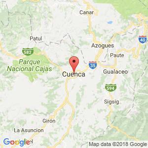Localización de Cuenca en Azuay