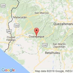 Localización de Coatepeque en Quetzaltenango