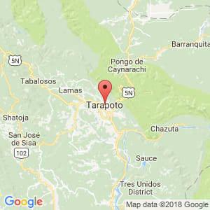 Localización de Tarapoto en San Martín