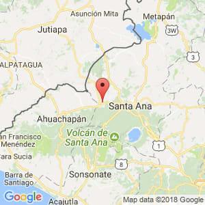 Localización de Chalchuapa en Santa Ana