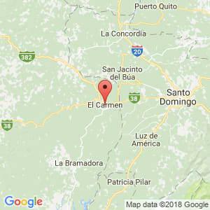 Localización de El Carmen en Manabí