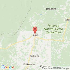 Localización de Siuna en Atlántico Norte