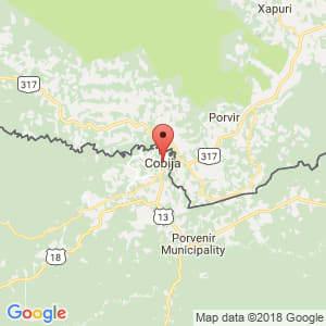 Localización de Cobija en Pando