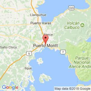 Localización de Puerto Montt en Los Lagos