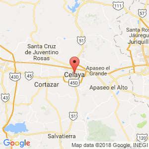 Localización de Celaya en Guanajuato