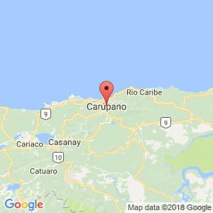 Localización de Carúpano en Sucre