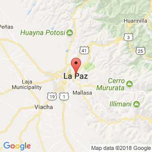 Localización de La Paz en La Paz