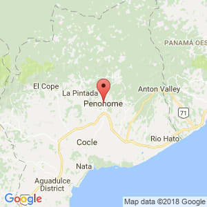 Localización de Penonomé en Coclé