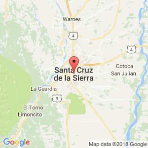 Localización de Santa Cruz de la Sierra en Santa Cruz