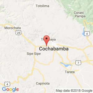 Localización de Colcapirhua en Cochabamba