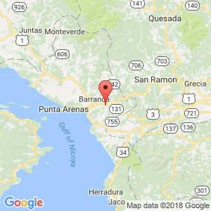 Localización de Esparza en Puntarenas