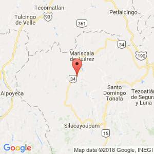 Localización de Guadalupe de Ramírez en Oaxaca