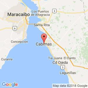 Localización de Cabimas en Zulia