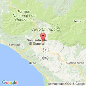 Localización de Pérez Zeledón en San José