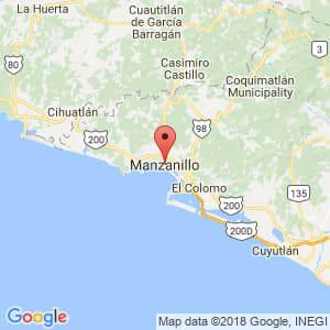 Localización de Manzanillo en Colima