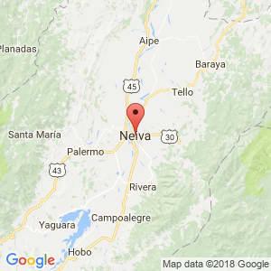 Localización de Neiva en Huila