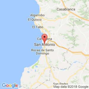 Localización de San Antonio en Valparaíso