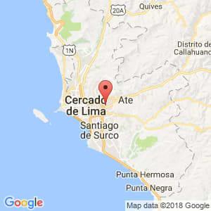 Localización de Santa Anita en Lima Provincias