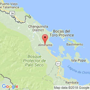 Localización de Almirante en Bocas del Toro