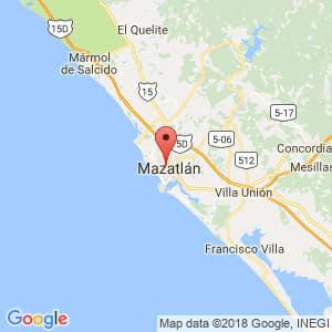 Localización de Mazatlán en Sinaloa