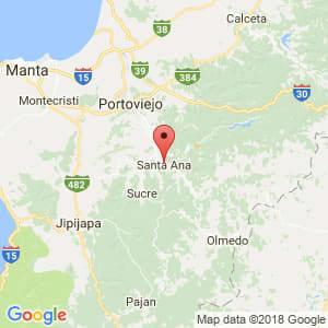 Localización de Santa Ana en Manabí