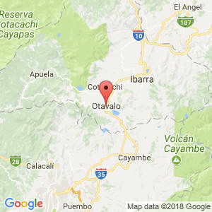 Localización de Otavalo en Imbabura