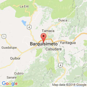 Localización de Barquisimeto en Lara