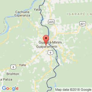 Localización de Guayaramerín en Beni