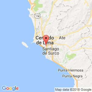 Localización de San Isidro en Lima Provincias