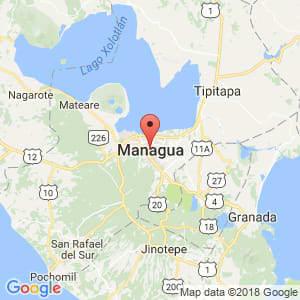 Localización de Managua en Managua