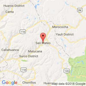 Localización de San Mateo en Lima Provincias