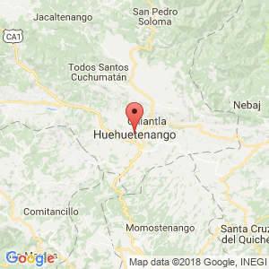Localización de Huehuetenango en Huehuetenango
