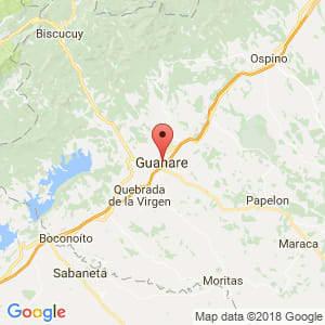 Localización de Guanare en Portuguesa