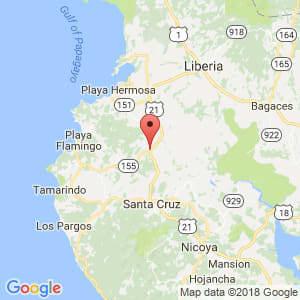 Localización de Belén en Guanacaste