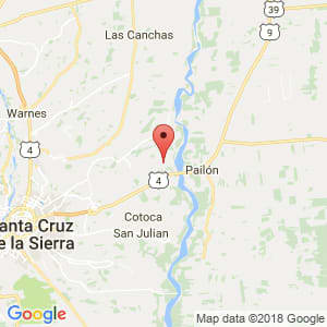 Localización de Montero Hoyos en Santa Cruz