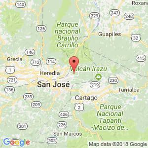 Localización de Vásquez de Coronado en San José