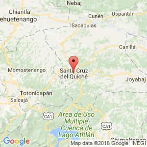 Localización de Santa Cruz del Quiché en El Quiché