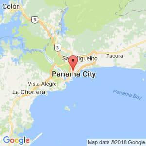Localización de Bella Vista en Panamá