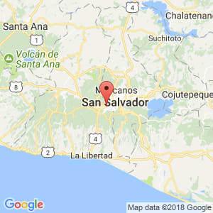 Localización de Antiguo Cuscatlán en La Libertad