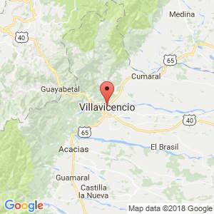 Localización de Villavicencio en Meta