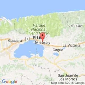 Localización de Maracay en Aragua