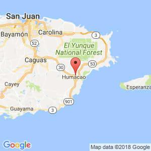 Localización de Humacao en Humacao