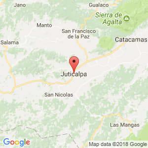 Localización de Juticalpa en Olancho