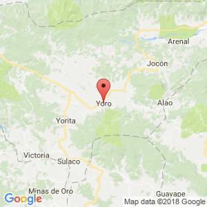 Localización de Yoro en Yoro