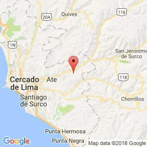 Localización de Chaclacayo en Lima Provincias
